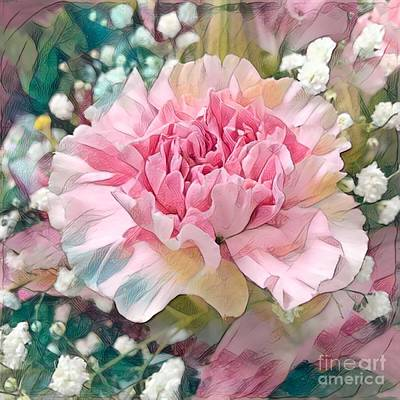 Photograph - Pink Carnation by Luther Fine Art