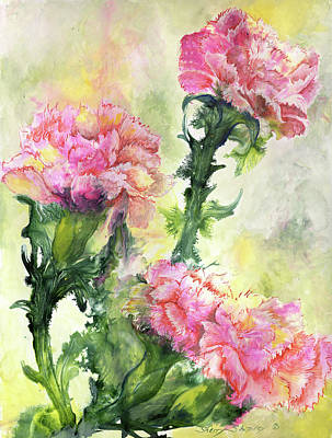 Painting - Pink Carnations by Sherry Shipley