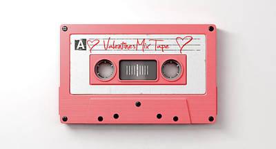 Pink Cassette Mix Tape Art Print
