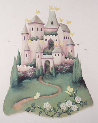 Painting - Pink Castle by Suzn Art Memorial