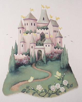Pink Castle Art Print