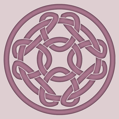 Digital Art - Pink Celtic Knot by Jane McIlroy