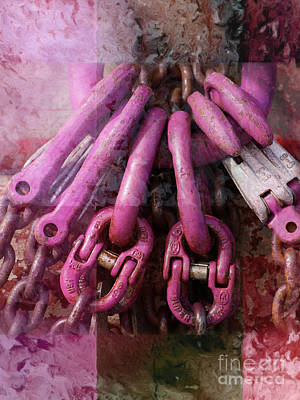Composing Photograph - Pink Chains Composing by Lutz Baar