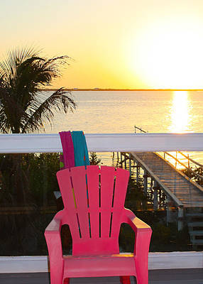 Photograph - Pink Chair In The Keys by Susan Vineyard