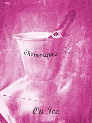 Pink Champagne On Ice Art Print by Richard Reeve