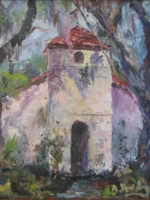 Pink Chapel Of St. Simons  Original by Albert Fendig