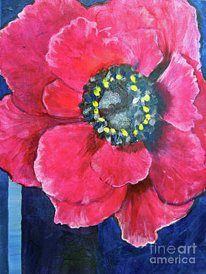Painting - Pink Cheerful Flower by Kristen Abrahamson