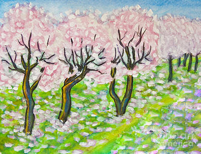 Painting - Pink Cherry Garden In Blossom by Irina Afonskaya