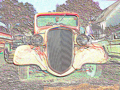 Digital Art - Pink Chevy Pickup  by Kathy K McClellan