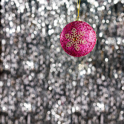 Photograph - Pink Christmas Bauble by U Schade