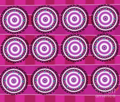 Digital Abstract Drawing - Pink Circle by Artist Nandika Dutt