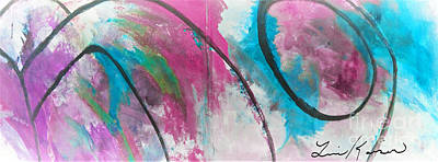 Abstract Painting - Pink City Singing by Lisa Kaiser