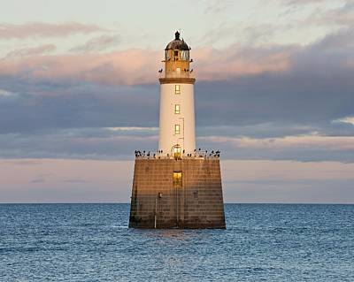 Photograph - Pink Clouds Above Rattray Head Lighthouse by Stephen Taylor