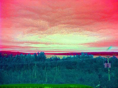 Pink Clouds Art Print by Allison Prior