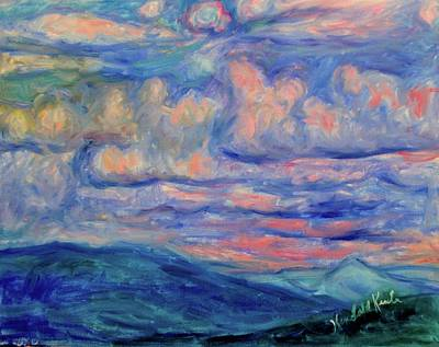 Painting - Pink Clouds Stage One by Kendall Kessler