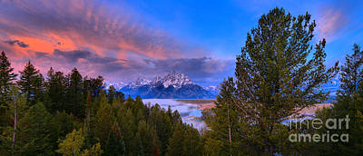 Photograph - Pink Clouds Over The Snake River Panorama by Adam Jewell