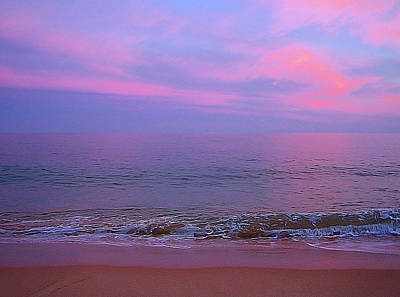 Pink Clouds Photograph - Pink Clouds, Sea And Sand by Nat Air Craft