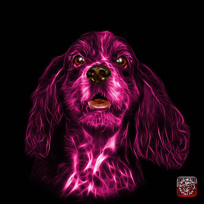 Mixed Media - Pink Cocker Spaniel Pop Art - 8249 - Bb by James Ahn
