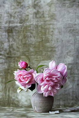 Photograph - Pink Color Roses Flowers by S Art