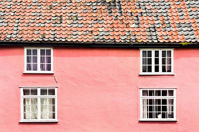 Refurbished Photograph - Pink Cottage by Tom Gowanlock