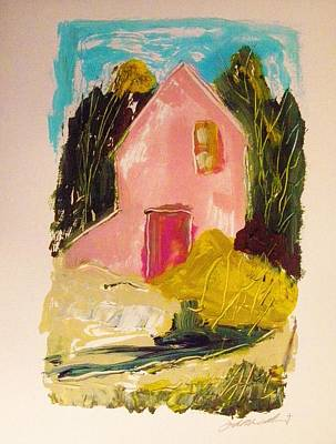Painting - Pink Country House by John Williams