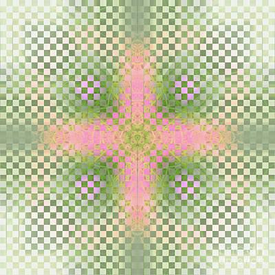 Pink Cross In Squares Original