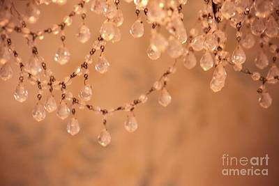 Photograph - Pink Crystal Chandelier by Patricia Strand