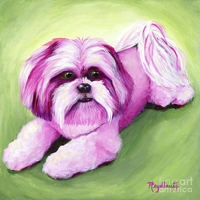 Painting - Pink Crystal by Pat Heydlauff