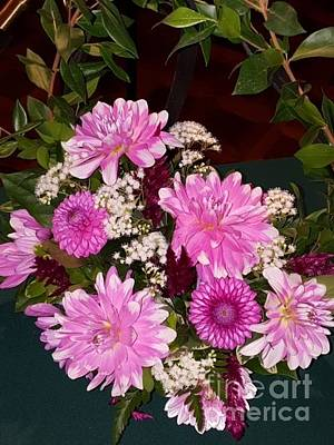Photograph - Pink Dahlia Bouquet by Gregory Rhode
