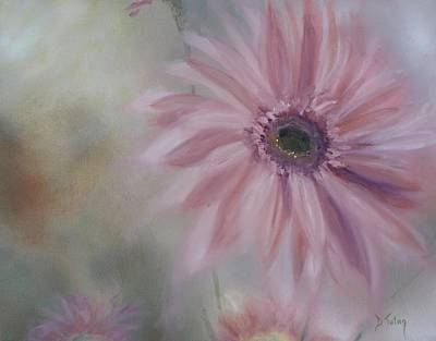 Gerbera Daisy Painting - Pink Daisies by Donna Tuten