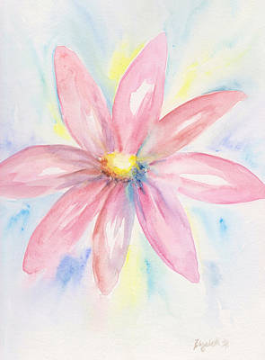 Painting - Pink Daisy by Elizabeth Lock