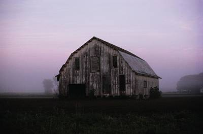 Natural Forces Photograph - Pink Dawn Mist Around A Weather-beaten by Stephen St. John