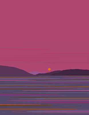 Digital Art - Pink Dawn by Val Arie