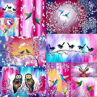 Pink Designs Art Print
