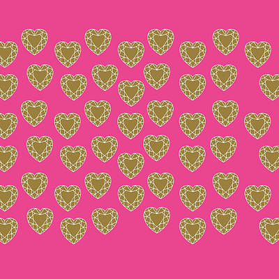 Digital Art - Pink Diamonds by Suzanne Carter