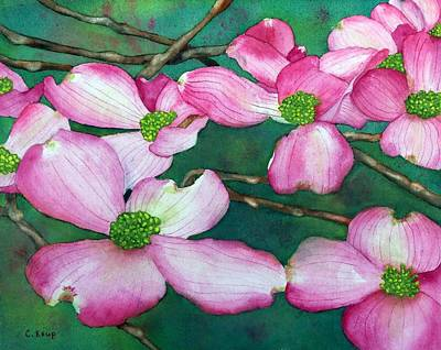 Painting - Pink Dogwood by Carolyn Koup