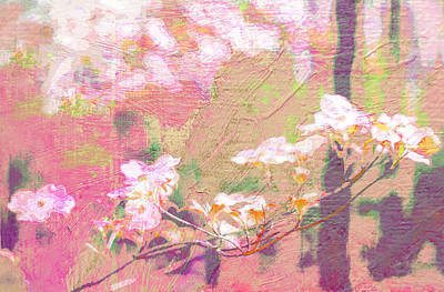 Photograph - Pink Dogwood Impressionism by Suzanne Powers