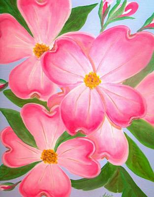 Greeting Card - Pink Dogwood by Kathern Welsh