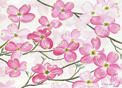 Painting - Pink Dogwood by Melly Terpening
