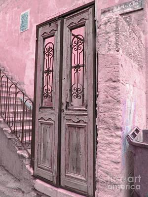 Digital Art - Pink Door by Donna Munro