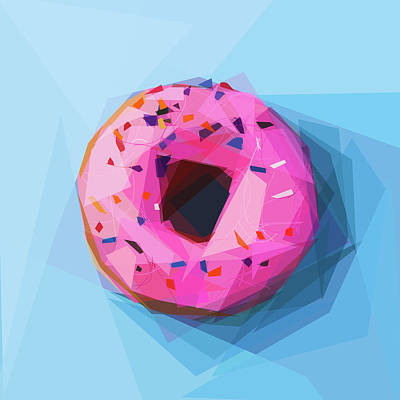Digital Art - Pink Doughnut by ISAW Gallery