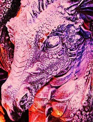 Pink-dragon Print by Ramon Labusch