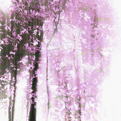 Digital Art - Pink Dream Forest  by Ann Powell