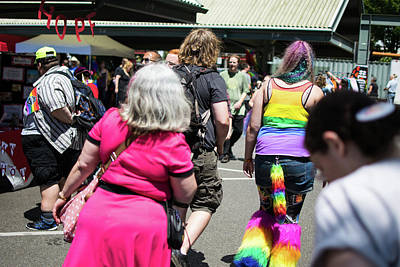Photograph - Pink Dress And Rainbow Leggings by Tom Cochran