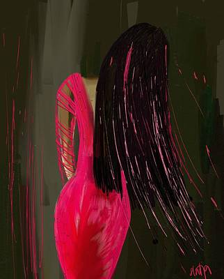 Digital Art - Pink Dress by Sladjana Lazarevic