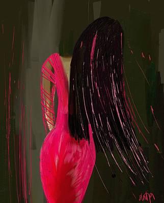 Digital Art - Pink Dress by Sladjana Lazarevic