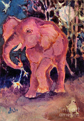 Painting - Pink Elephant by Diane Ursin