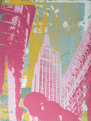 Modernism Mixed Media - Pink Empire by Shay Culligan