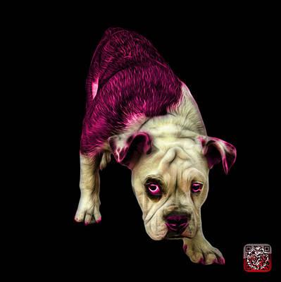 Painting - Pink English Bulldog Dog Art - 1368 - Bb by James Ahn