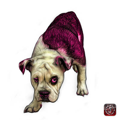 Painting - Pink English Bulldog Dog Art - 1368 - Wb by James Ahn